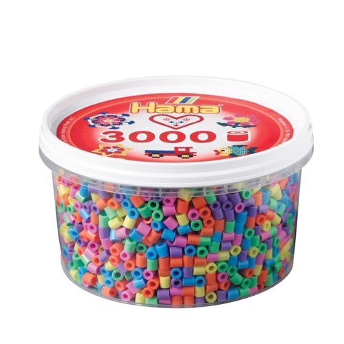 Image of   Hama perler pastel mix (050), 3000 stk