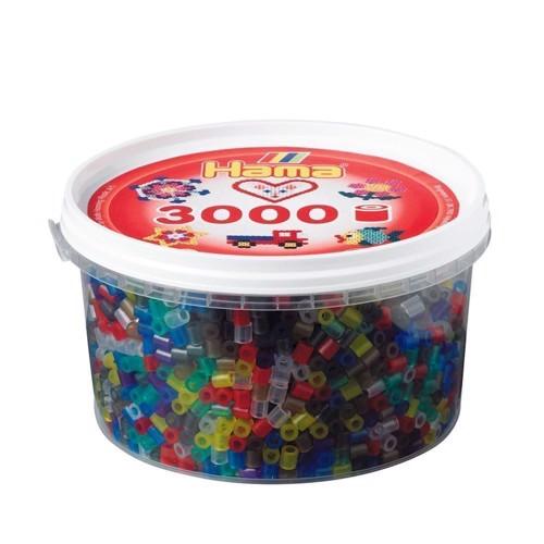 Image of   Hama perler transparent mix (053), 3000 stk