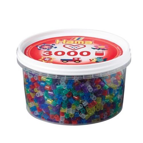 Image of   Hama perler glimmer mix (054), 3000 stk