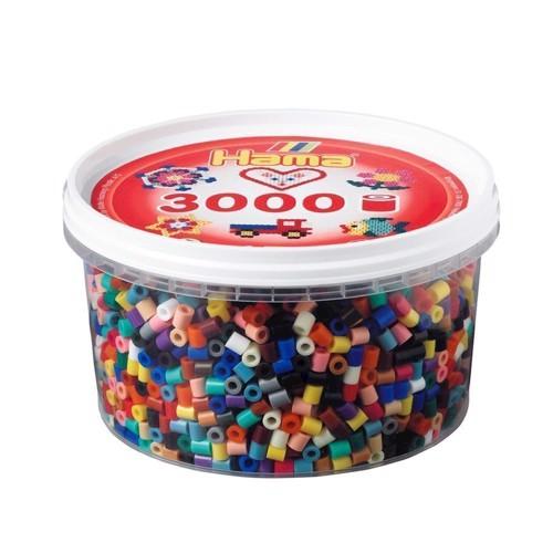 Image of   Hama perler blandede farver (067), 3000 stk