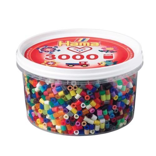 Image of Hama perler blandede farver (068), 3000 stk (028178210687)