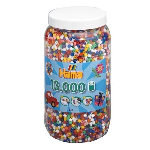Image of Hama perler, basis farver (00), 13.000 stk