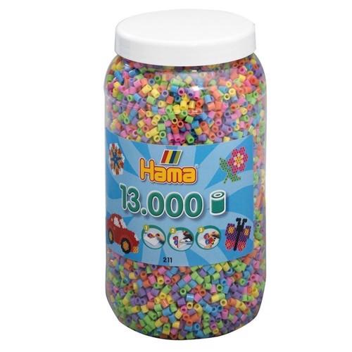 Image of Hama perler pastel farver (050), 13.000 stk