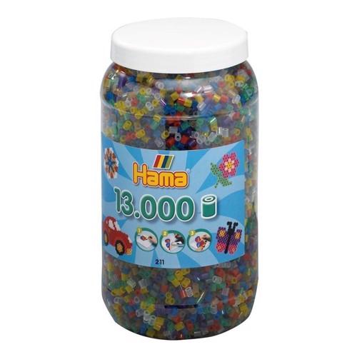 Image of Hama perler transparent mix (053), 13.000 stk (028178211530)
