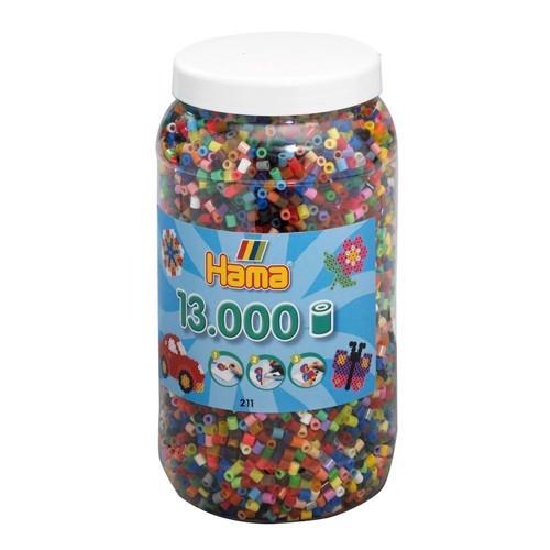 Image of Hama perler, basis farver (068), 13.000 stk