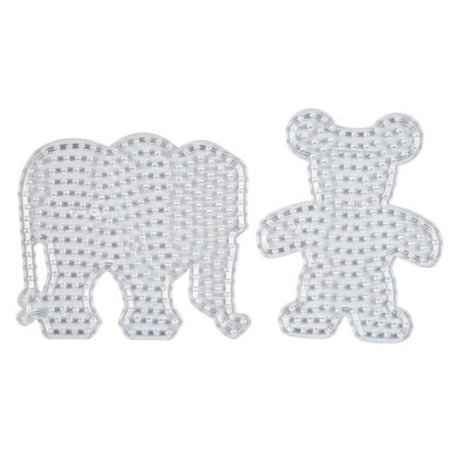 Image of   Hama Maxi perleplader, elefant og bjørn