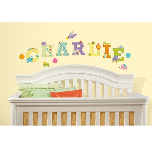 Image of   Wall sticker dyre alfabet