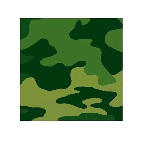 Serviettter 16 stk, militær