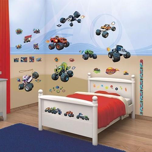 Image of   Walltastic Blaze and the Monster wheels vægklistermærker med biler