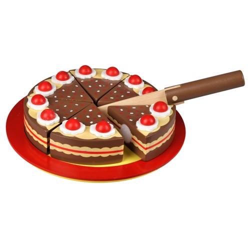 Image of   Chokolade fødselsdags kage i træ