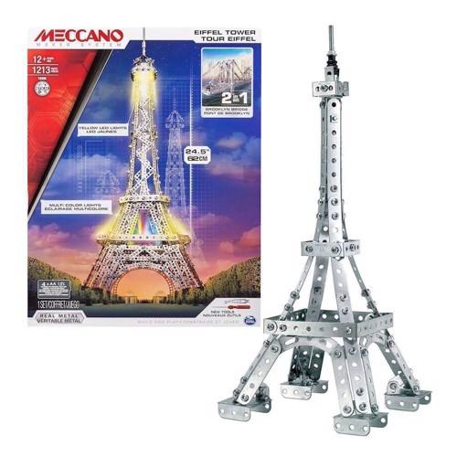 Image of Meccano byggesæt, Eiffeltårnet, 1213 dele (0778988112618)