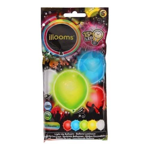 Illooms LED Balloner med lys 5 stk