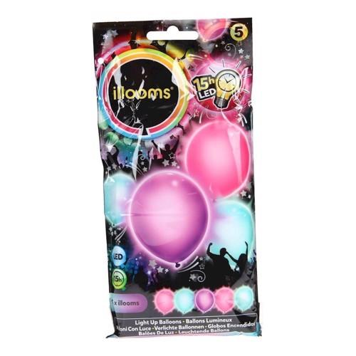 Illooms LED Balloner, 5 stk pige
