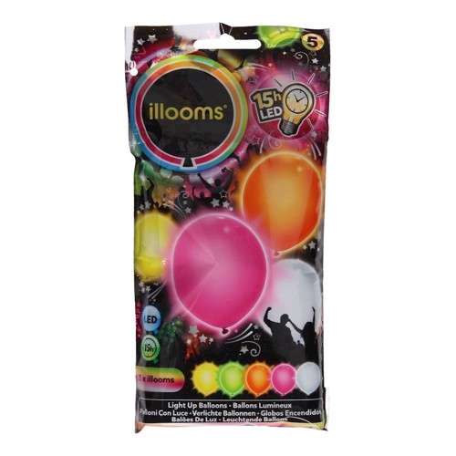 Illooms LED Balloner med lys 5 stk sommer