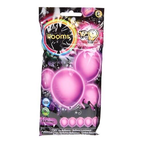 Illooms LED Balloner, 5 stk lilla