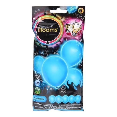 Illooms LED Balloner, 5 stk blå