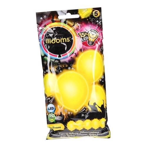 Illooms LED Balloner, 5 stk gul