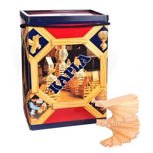 Image of   Kapla Klodser, box med 200 lyse brikker