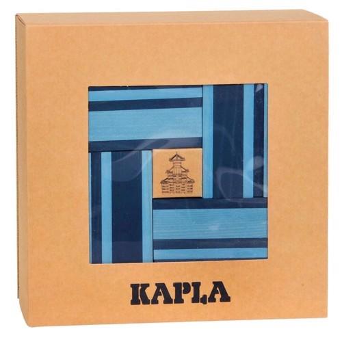 Image of   Kapla Klodser, 40 brikker i lys og mørk blå