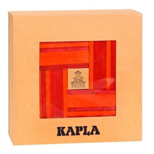 Image of   Kapla Klodser, 40 orange og røde brikker
