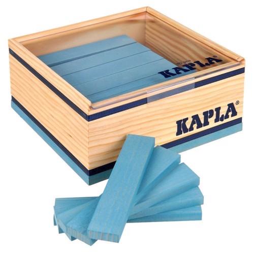 Image of   Kapla Klodser, 40 lyseblå brikker