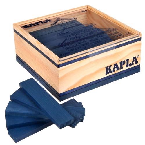 Image of   Kapla Klodser, 40 mørkeblå brikker