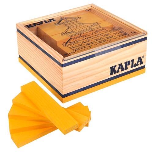 Image of   Kapla Klodser, 40 gule brikker