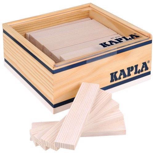 Image of   Kapla Klodser, 40 hvide brikker