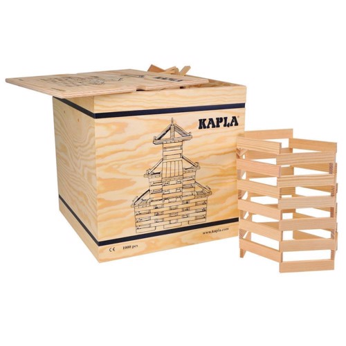 Image of   Kapla Klodser, kiste med 1000 lyse brikker