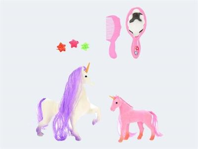 Image of Hestestald med 2 heste (871462706225)