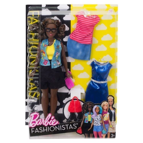 Image of   Barbie dukke, Fashionistas Emoji Fun Dukke