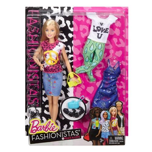 Image of   Barbie dukke, Fashionistas Peace Dukke