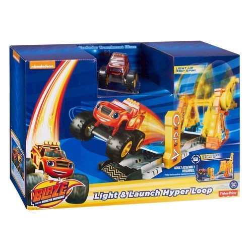 Image of Blaze & Monstermaskinerne Launch Hyper Loop Playset (0887961357691)