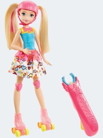 Image of   Barbie dukke, DTW00 Videospil heltinde på rulleskøjter