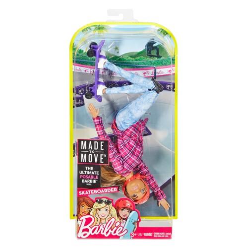 Image of   Barbie dukke, Made to Move - Skateboarder