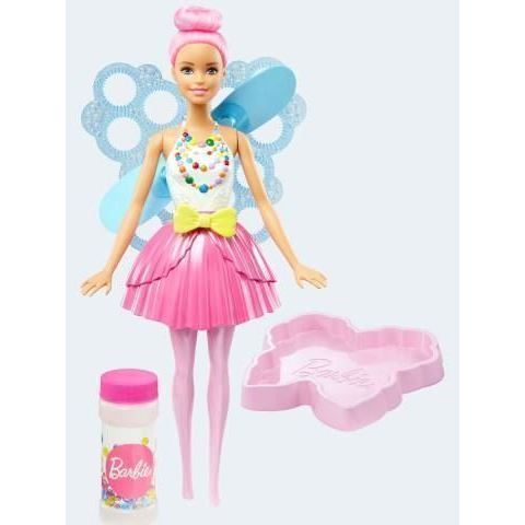 Image of   Barbie dukke, DVM95 Dreamtopia sæbeboble fe