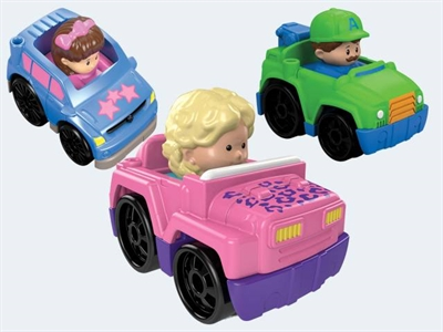 Image of   Fisher Price Little People DVP65 Wheelies bil