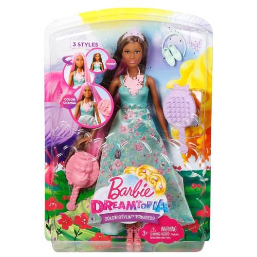 Image of   Barbie dukke, Dreamtopia Color Stylin Barbie