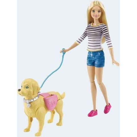 Image of   Barbie dukke, DWJ88 barbie med hund