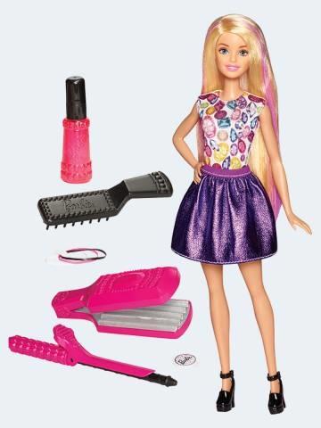 Image of   Barbie dukke, DWK49 Barbie med tilbehør til håret