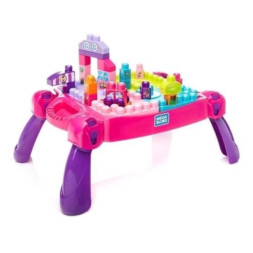 Image of Mega Bloks - Legebord - Pink, 30 dele. (0887961485202)