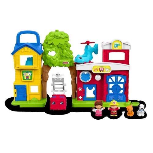 Image of   Little People - Legesæt med bygning & figurer