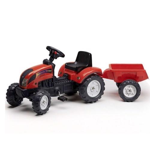 Image of Falk Tractor med rød trailer (3016200205111)