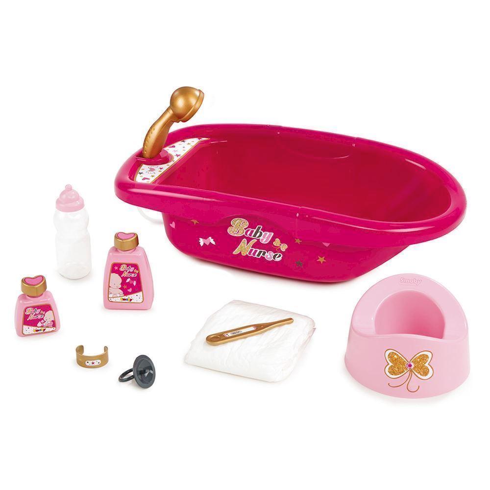 32ae9aa47 Smoby Baby Nurse, dukke badekar med tilbehør