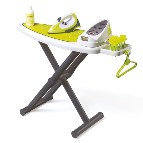 Image of Smoby legetøjs strygebræt med stygejern (3032163301141)
