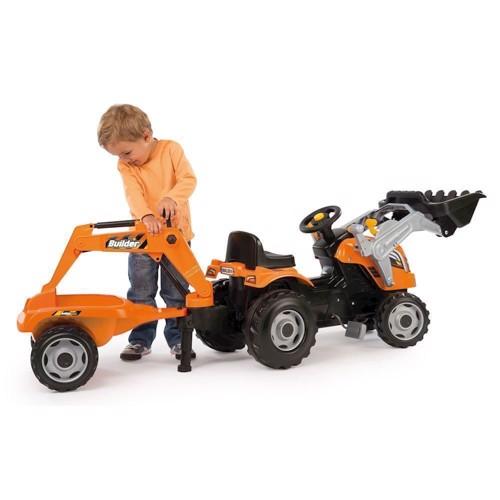 Image of   Smoby Powerbuilder trappe traktor med trailer