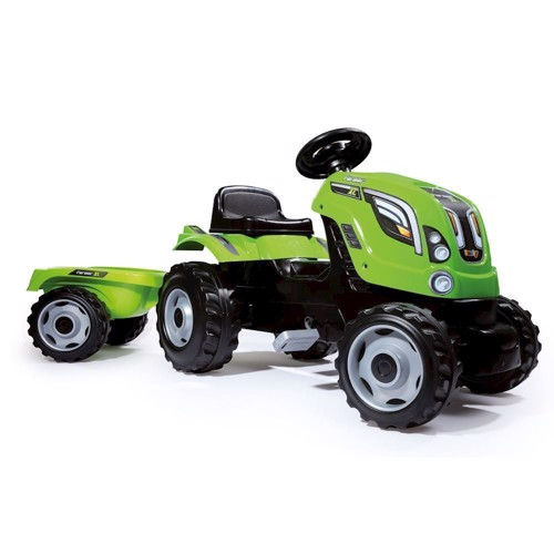 Image of Smoby Traktor med trailer (3032167101112)