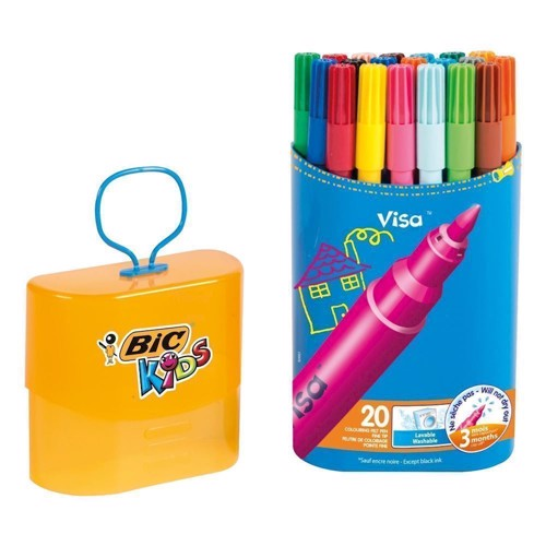Image of   BIC - Kids, Tusser/Tuscher, Durable Pack Visa, 20 stk