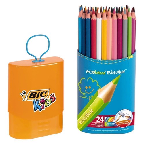 Image of   BIC - Kids, Tusser, Tuscher, Durable Pack Evolution, 24 stk
