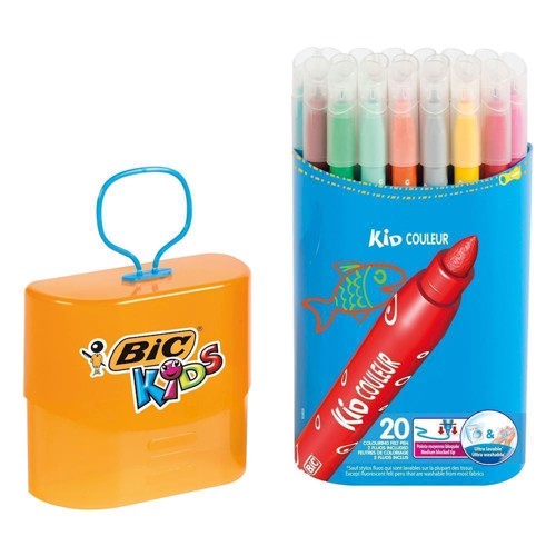 Image of   BIC - Kids, Tusser/Tuscher, Durable Pack, 20 stk